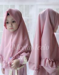 Jilbab Anak Instant Model Rimpel
