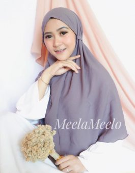 Jilbab Instant Salwa in Grey