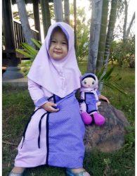 Paket Murah Gamis Anak dan Boneka Muslimah