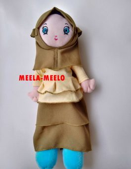 Boneka Muslimah Rimpel New Edition in Yellow Combi