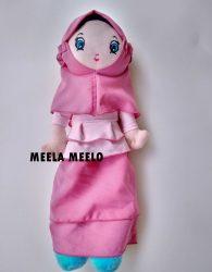 Boneka Muslimah Rimpel New Edition in Pink Combi