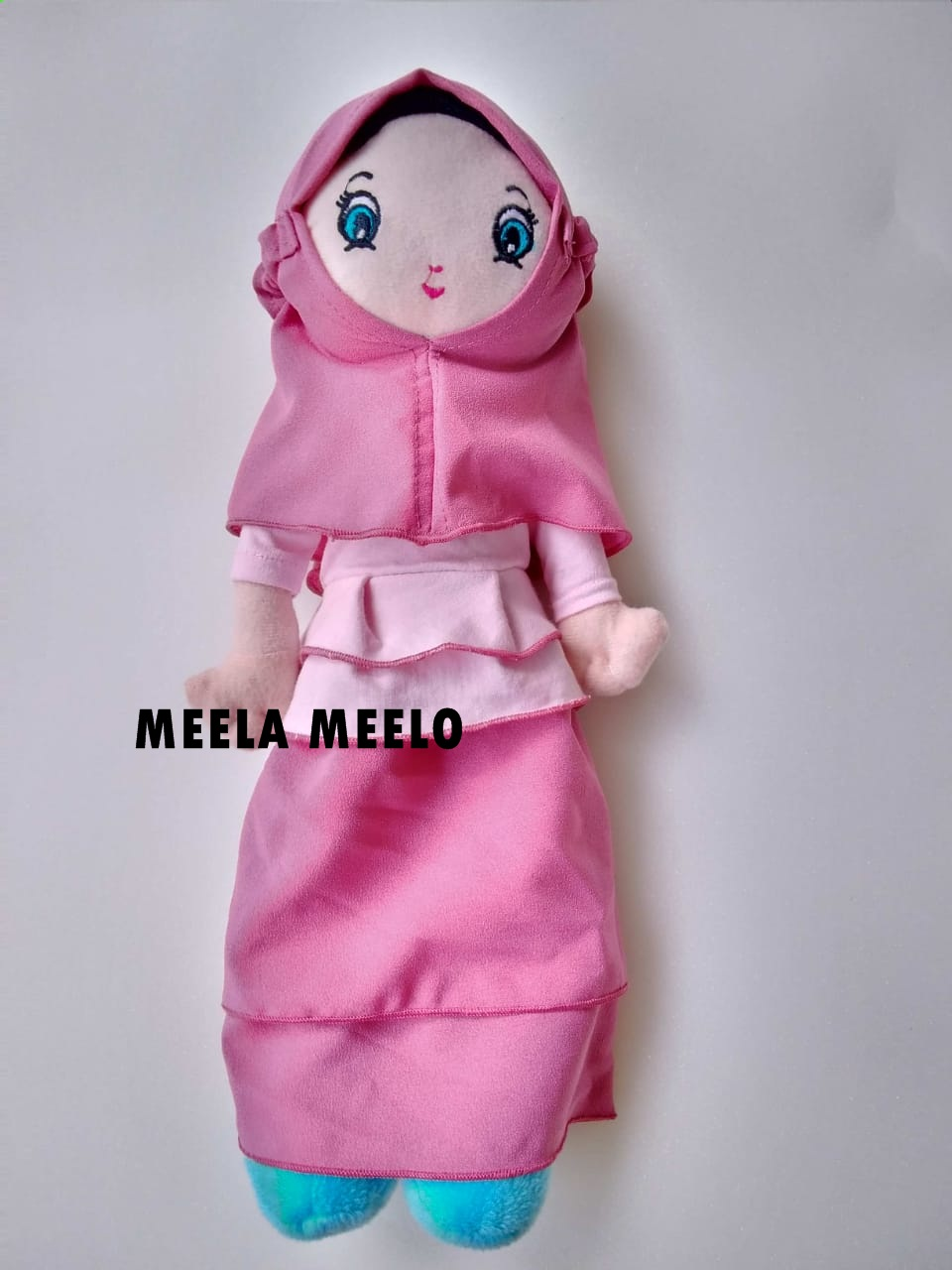 Boneka Muslimah Rimpel New Edition in Pink Combi