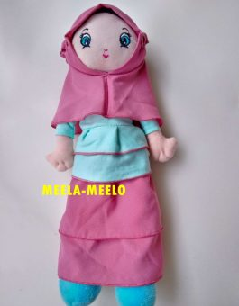 Boneka Muslimah Rimpel New Edition in Pink and Blue